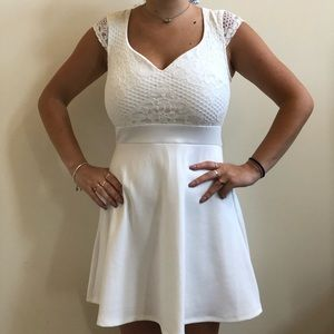 Simple and Elegant White Dress